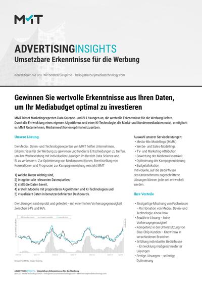 Umsetzbare Erkenntnisse für die Werbung