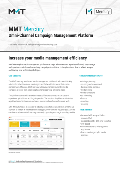 MMT Mercury Omni-Channel Campaign Management Platform