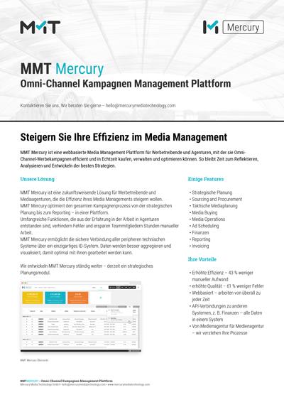 MMT Mercury - Omni-Channel Kampagnen Management Platform