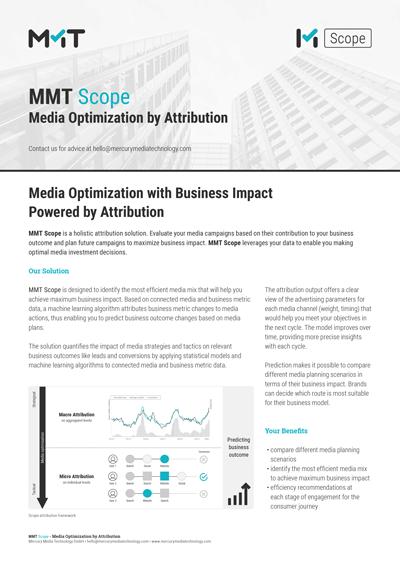 MMT Scope Media Optimization by Attribution