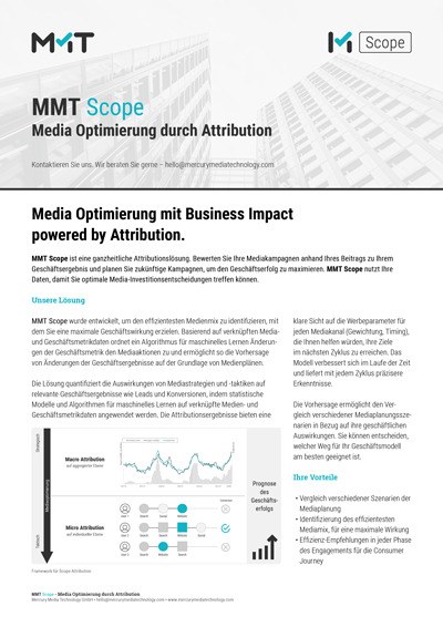 MMT Scope - Media Optimierung durch Attribution