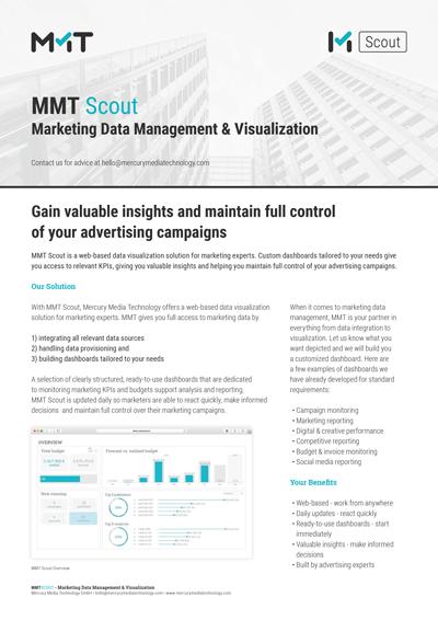 MMT Scout Marketing Data Management & Visualization