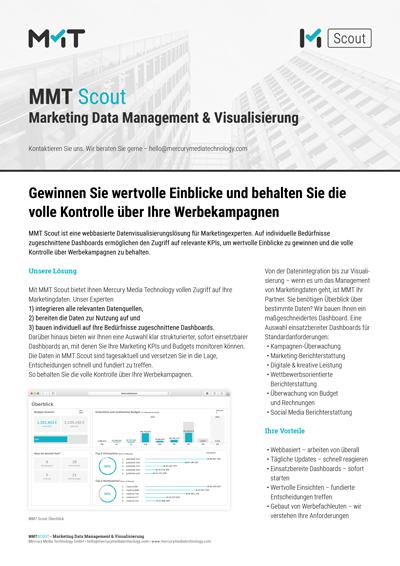 MMT Scout - Marketing Data Management & Visualisierung