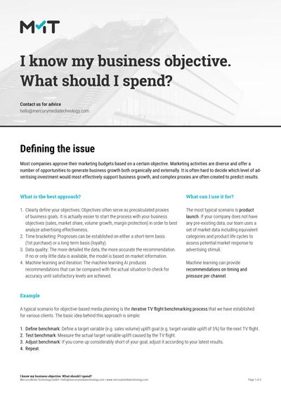 Objective based budgeting