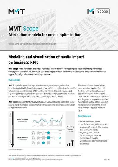 MMT Scope – Attribution models for media optimization