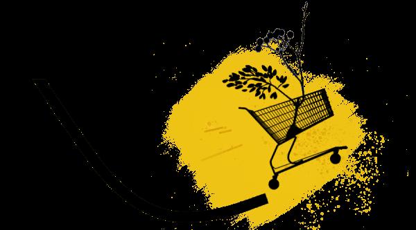 Einkaufswagen springt