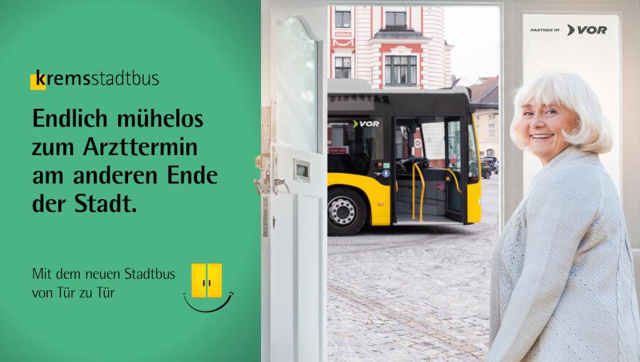 Stadtbus Sujet Zielgruppe Maria