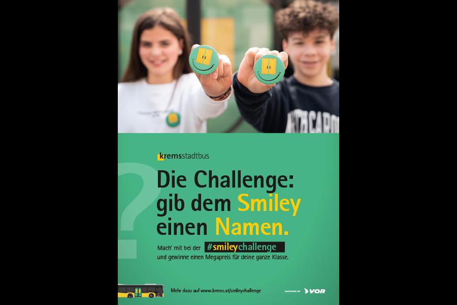 Kremser Stadtbus Smileychallenge Plakat