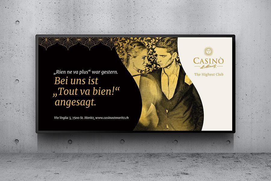Casino St. Moritz - Plakat mit einem tanzenden Paar