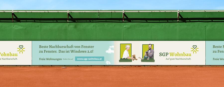 Bande Tennisplatz
