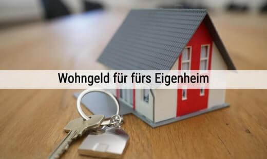 Lastenzuschuss beantragen - Wohngeldantrag für Eigentümer