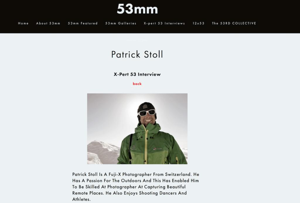 Patrick Stoll auf 53mm