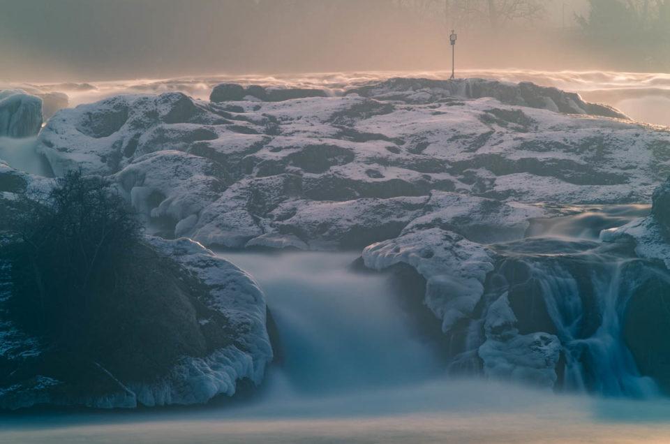 Winterlicher Rheinfall