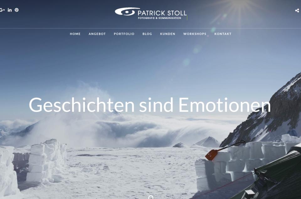 Screenshot der neuen Webseite von Patrick Stoll Fotografie & Kommunikation.