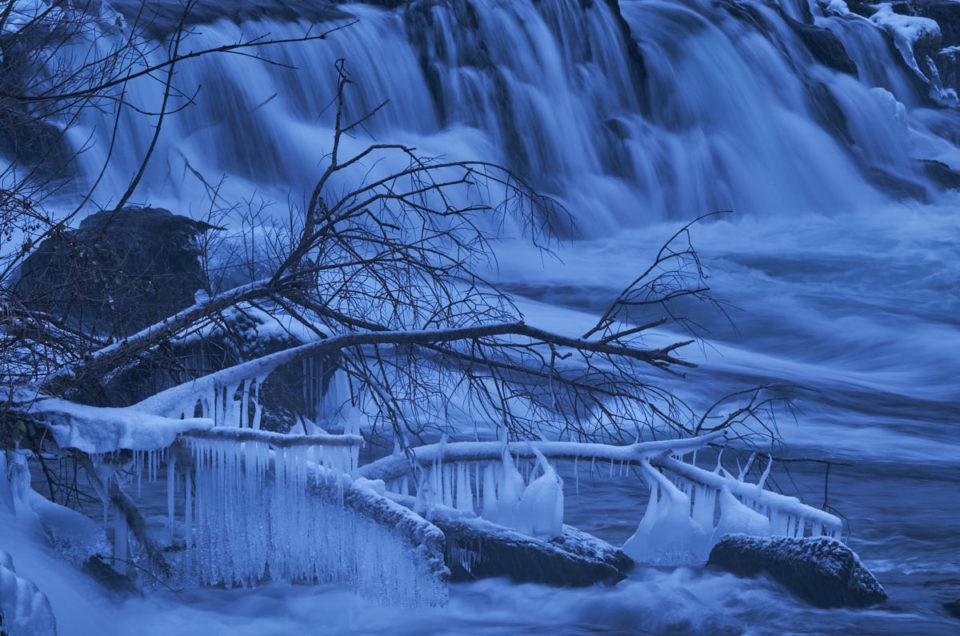 Gefrorener Rheinfall