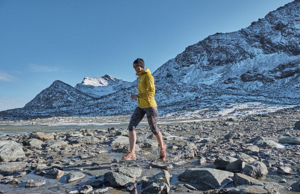 Trailrunningshooting in den Walliser Alpen.
