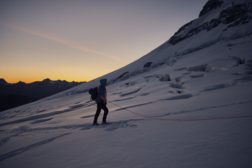Als Nachsteigerin musste sich Nadja auch gedulden. Dabei entschädigte die wunderbare Morgenstimmung auch für die Kälte des frühen Morgens.