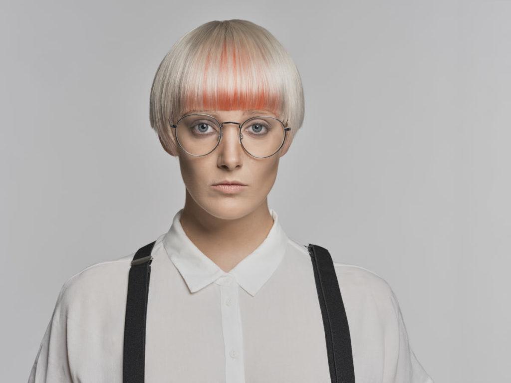 Portrait von Carina Neumer während eines Fashionshootings.