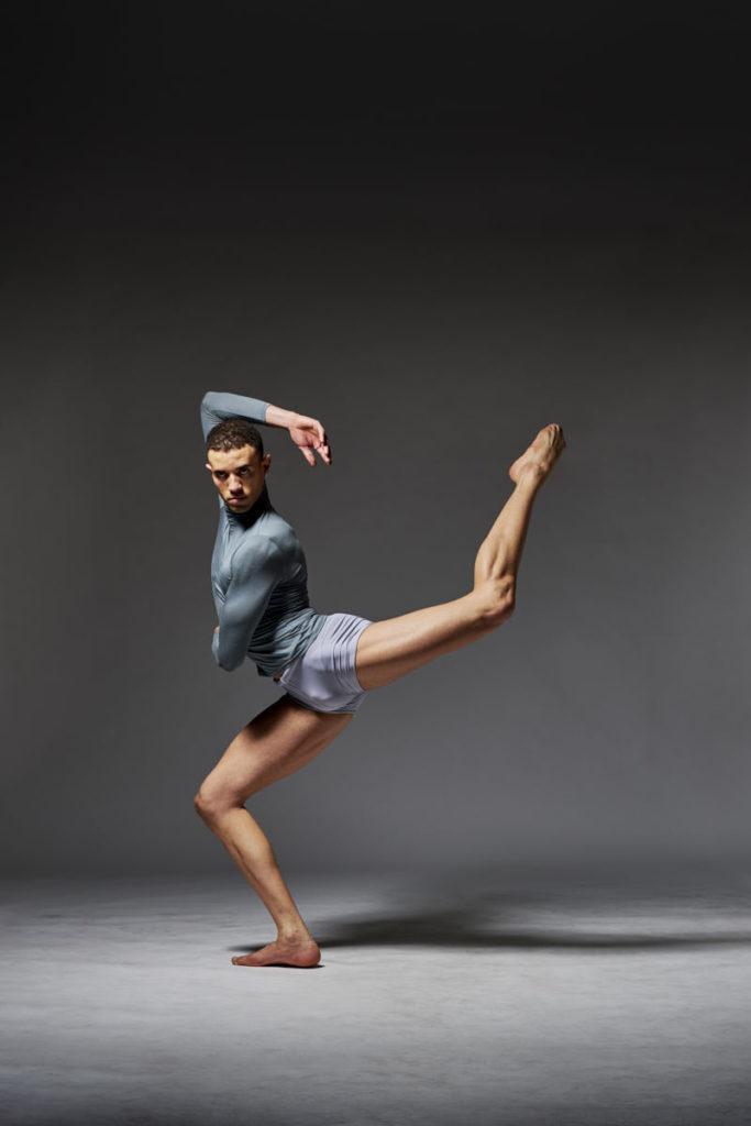 Professional Dancer Willer Rocha performs in the studio.