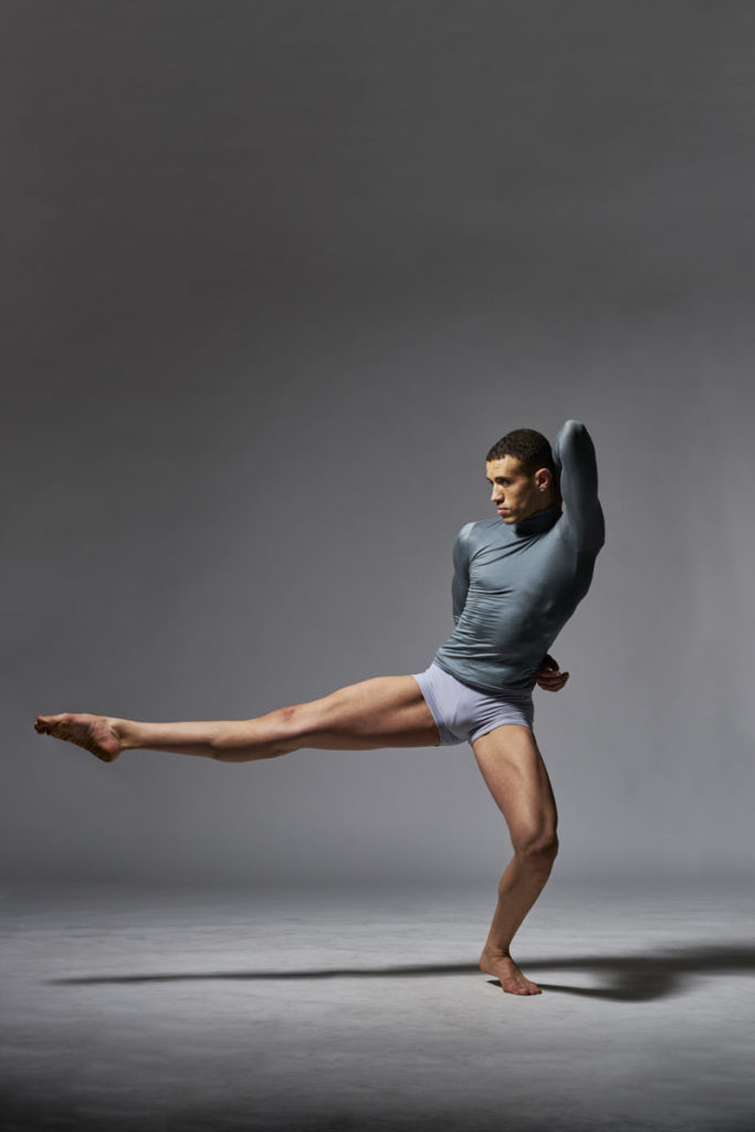 Professional Dancer Willer Rocha performs in the studio.