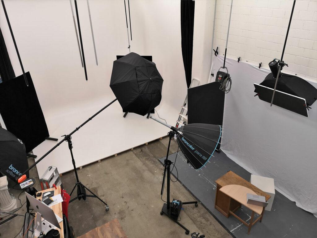 Für das grosse Shooting ist das Studio gut organisiert.