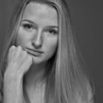 Die Leichtathletin Estelle Heller war für eine Portraitsession im Studio.