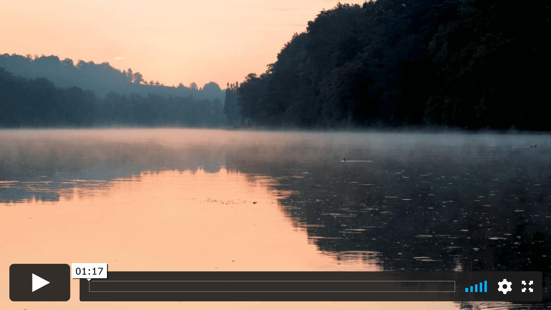 Morgenstimmung am Rhein - perfekt für einen Triathlonfilmdreh.
