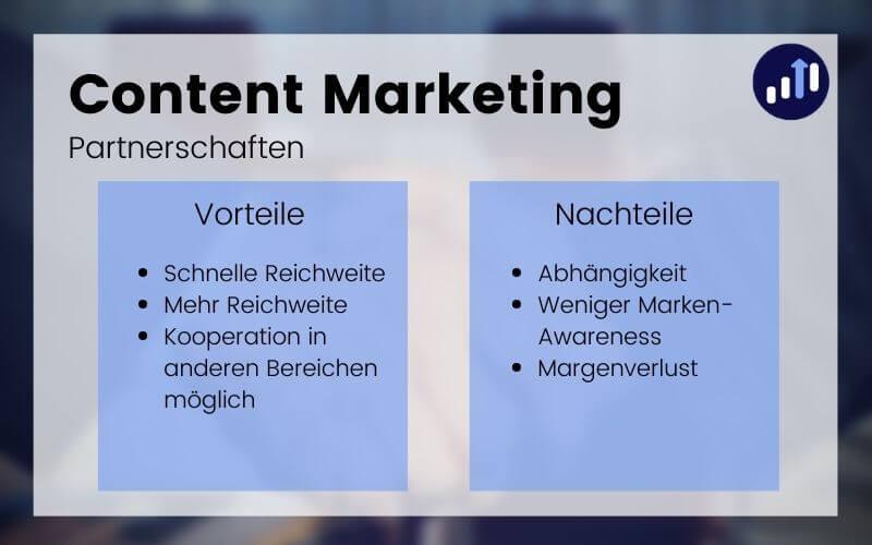 Partnerschaften im Content Marketing