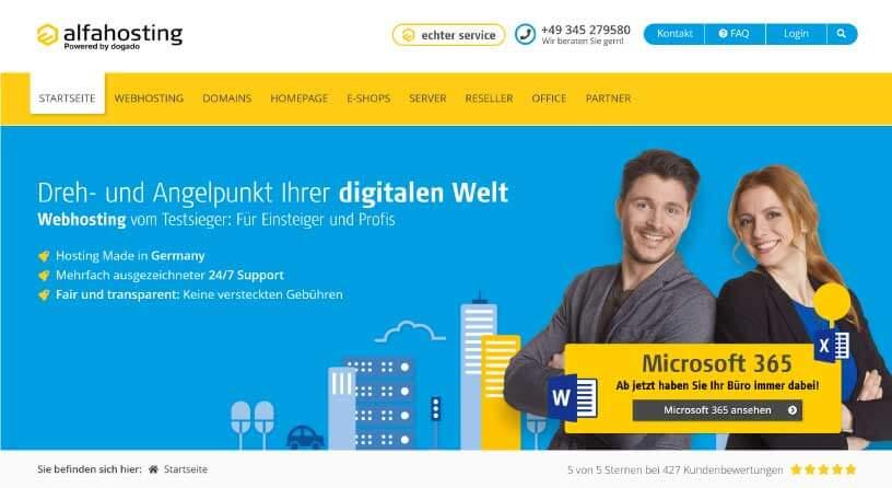 Alfahosting Webhosting