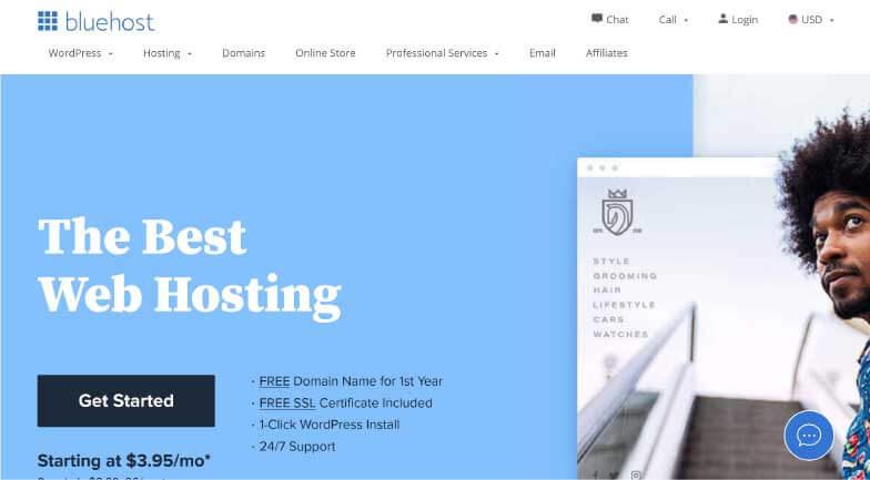 Bluehost Webhosting