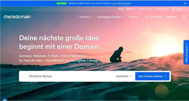 Checkdomain Webhosting