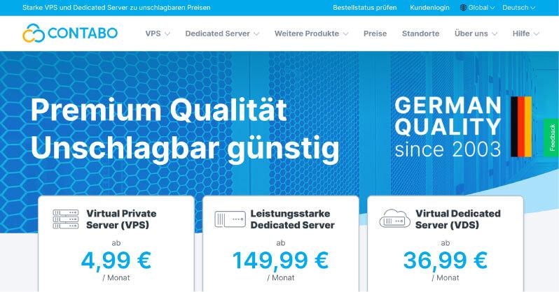 Contabo Webhosting