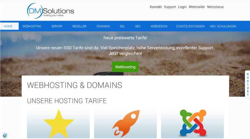 DM Solutions Webhosting