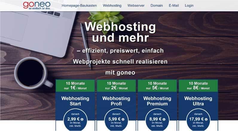 Goneo Webhosting 1