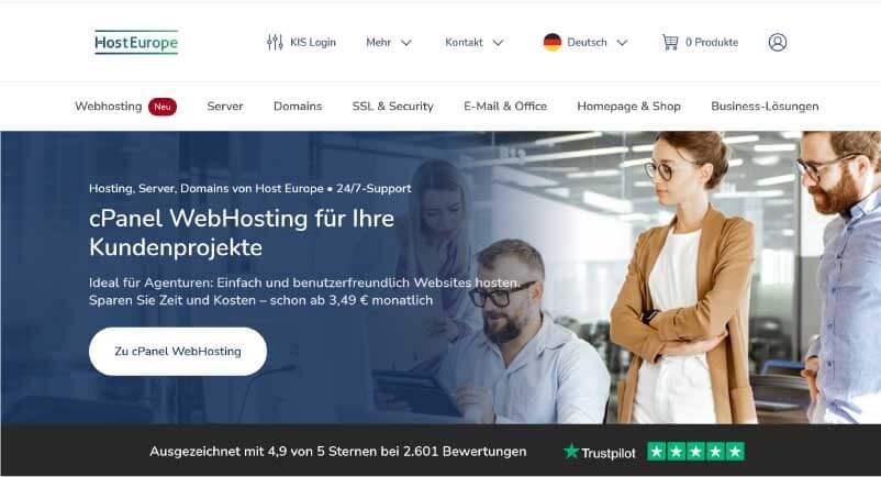 Host Europe Webhosting