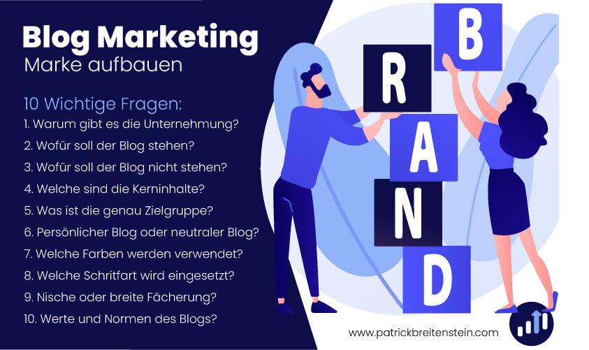 Marke aufbauen fuer einen Blog