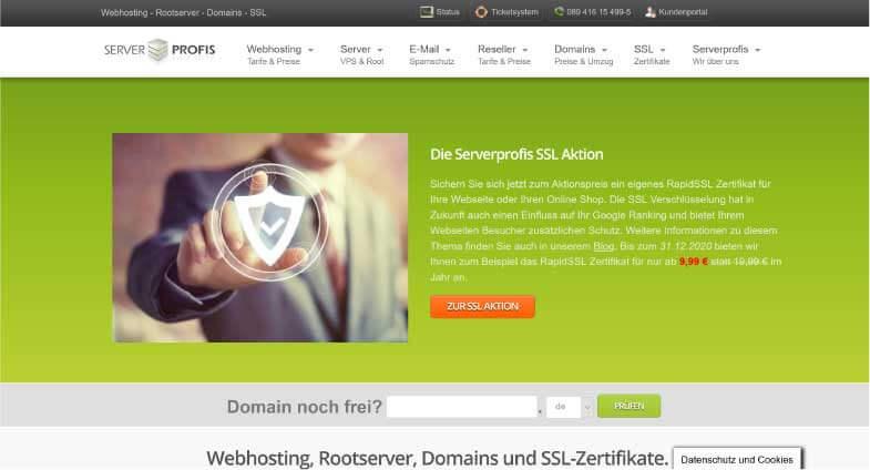 Serverprofis Webhosting
