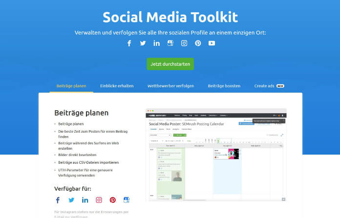 Social Media Toolkit SEMRush