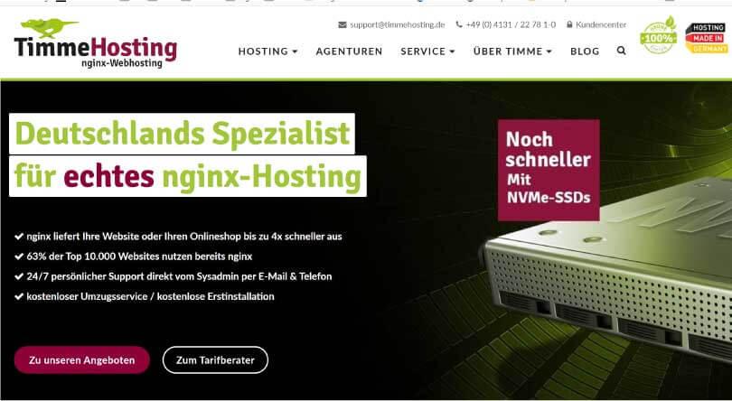 Timmehosting Webhosting