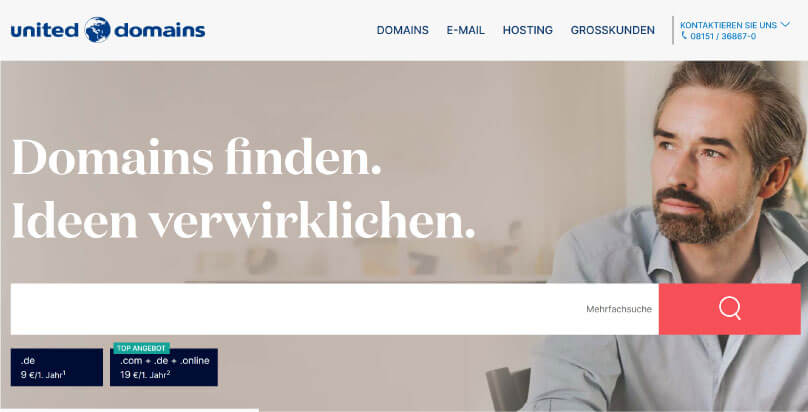 United Domains Webhosting