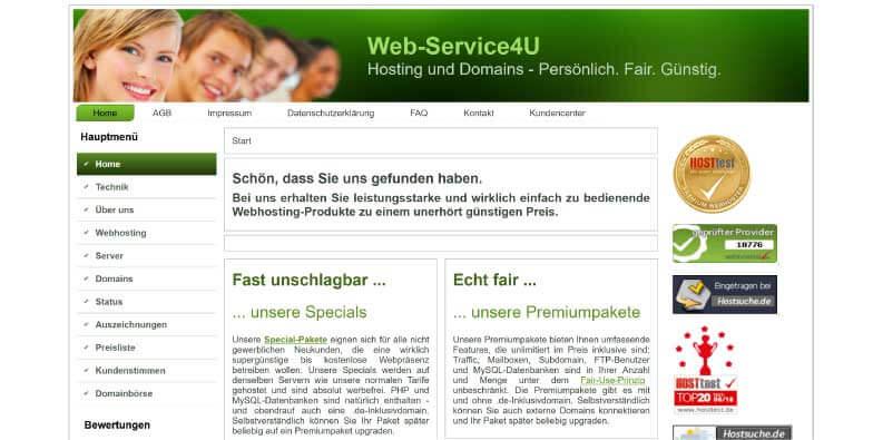 Web Service 4U Webhosting
