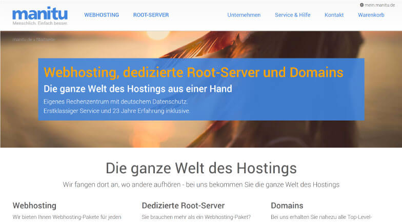 manitu Webhosting