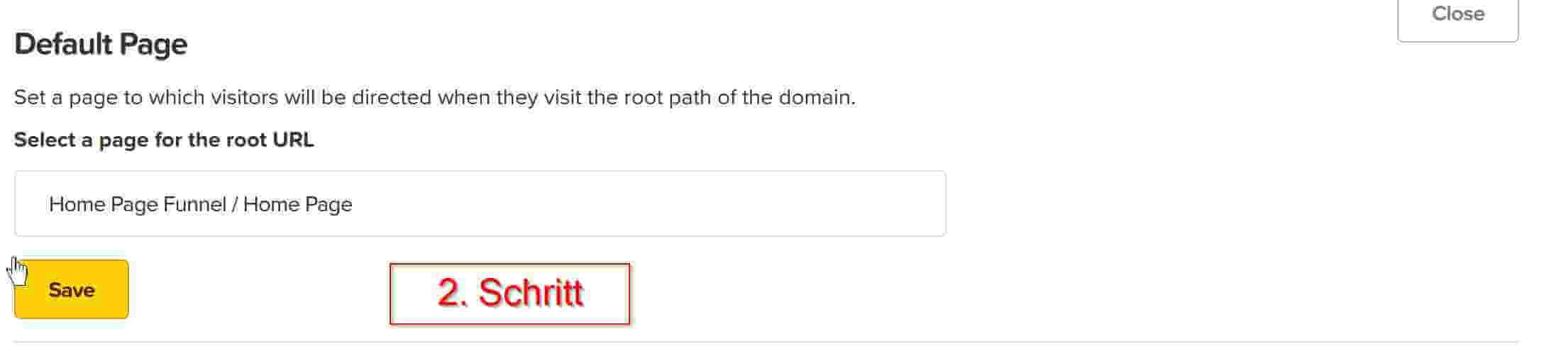 2 Schritt Domain weiterleiten clickfunnels