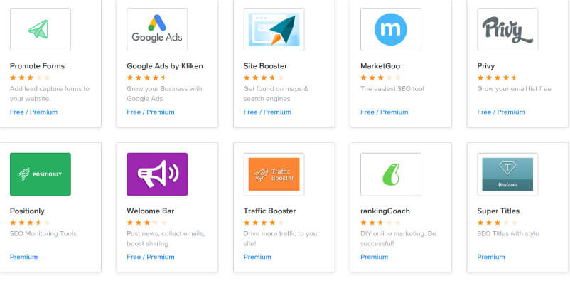Apps fuer mehr Traffic bei Weebly