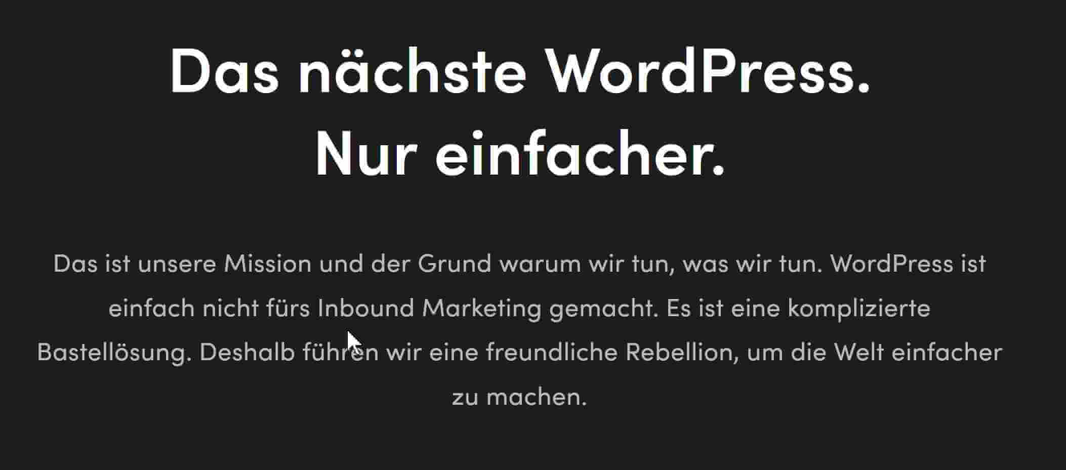 Chimpify vs WordPress