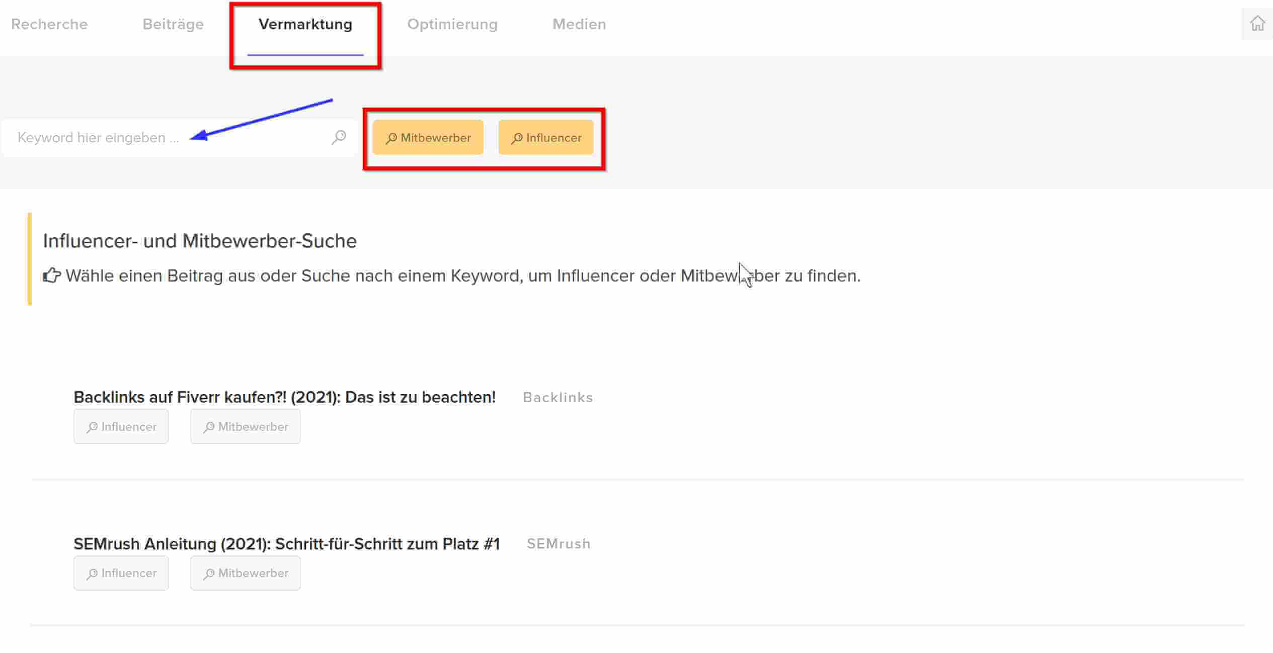 Content Marketing mit Chimpify