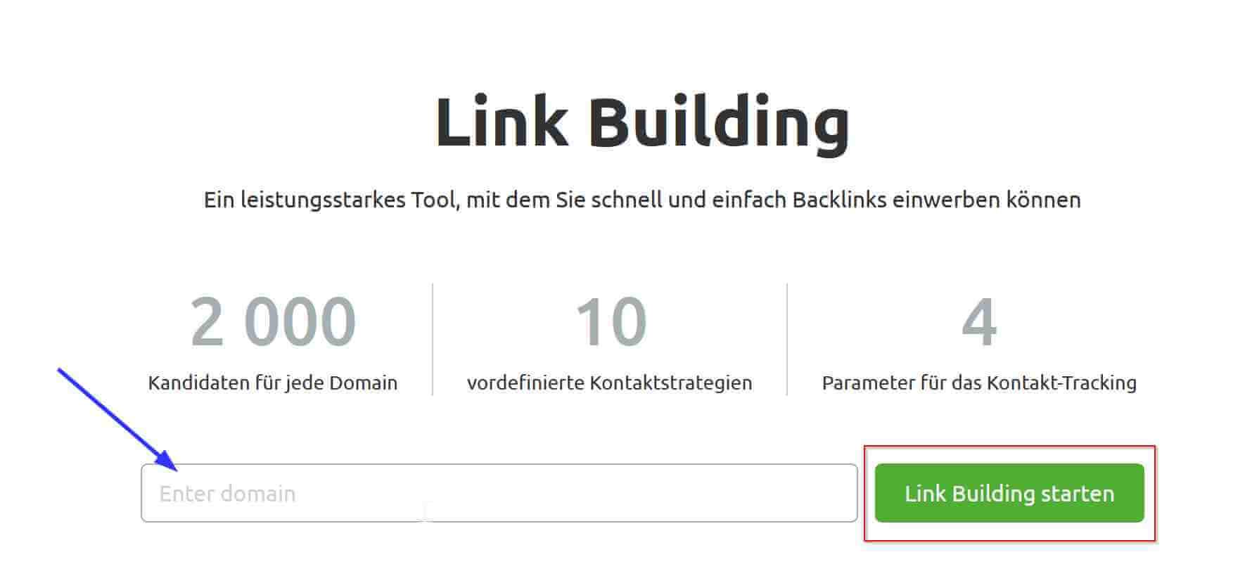 Link Bulding Tool Schritt 1