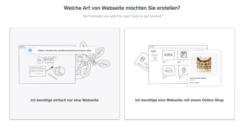 Webseite oder ECommerce bei Weebly