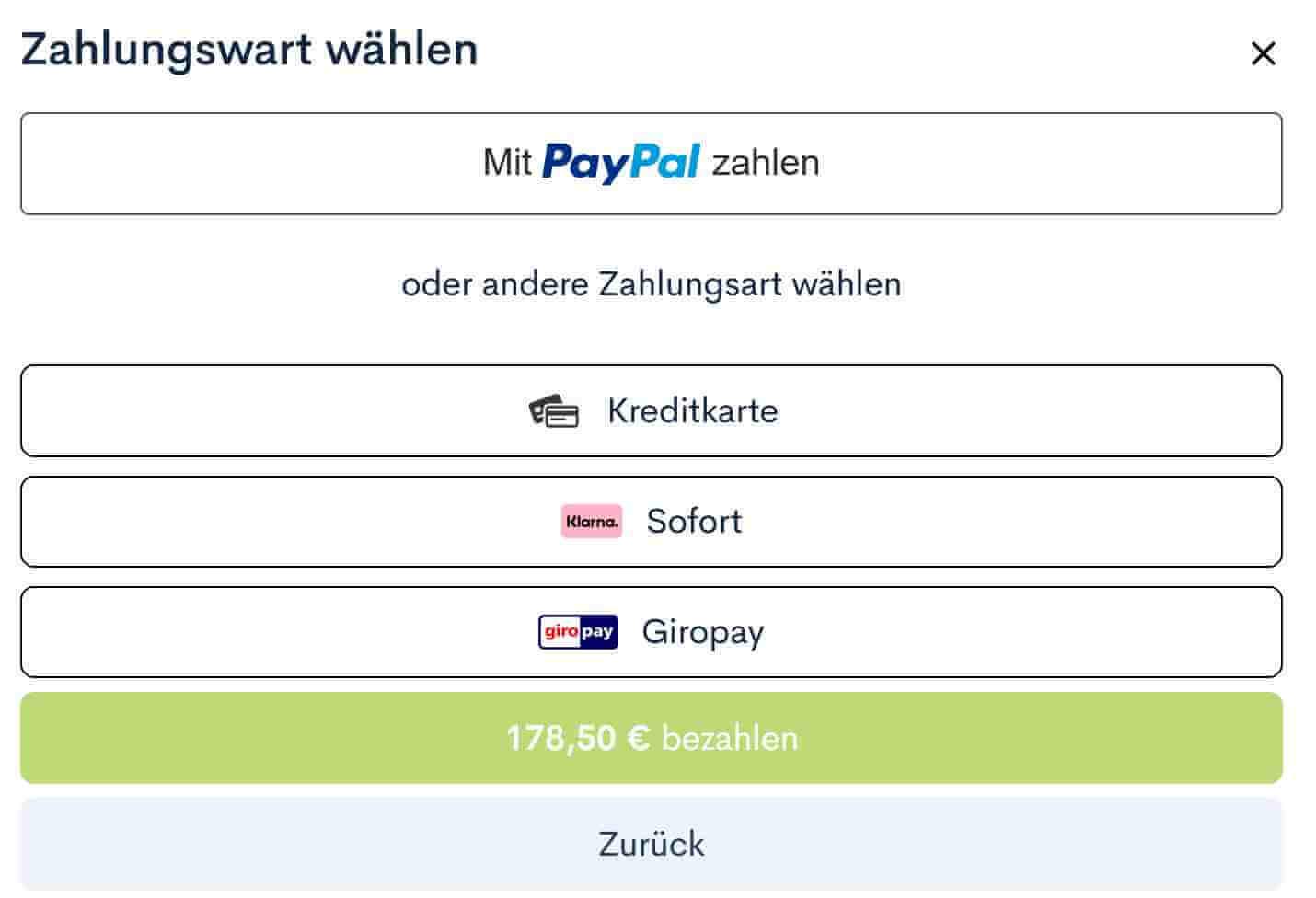 Zahlungsmoeglichkeiten von Backlinked