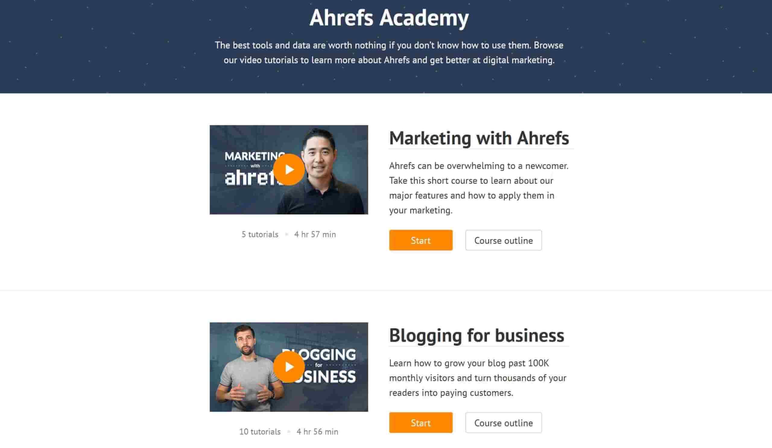 Ahrefs Academy SEO Weiterbildung